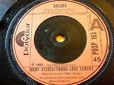 """Krisma-nombreux Kisses (Tirana Love Déjeuner) 7"""" vinyl"""