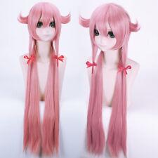 ANIME Future Diary Nikki Gasai Yuno cartoon Anime Full Wig+ Wigs cap 100cm