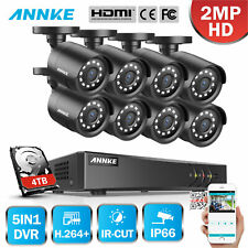 Annke 4Ch 8Ch 1080P Lite Dvr Outdoor Hd 2Mp Video Home Security Ir Camera System