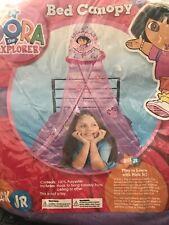 Nick Jr Dora the Explorer Kids Purple Bed Canopy Tulle Whimsy Decor