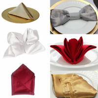 20-100pcs 30/50cm Stain Table Napkins Pocket Handkerchief For Wedding Home Party