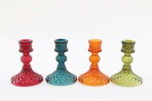 Temerity Jones London Botanical Dinner Glass Candle Holder Choice of Colours