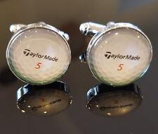 Mens Novelty Taylor Made Silver Golf Ball Cufflinks Sport Golfer Golfing Gift