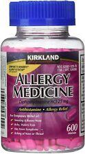 Kirkland Signature Allergy Medicine Diphenhydramine HCI 25 Mg - Huge 600 Count!