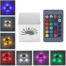 3W RGB LED Deckenleuchte Timer Wandleuchte Wandlampe Deckenlampe Fernbedienung