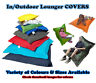 COVERS ONLY : In/Outdoor Beanbag / Cushion / Lounger - MADE IN THE UK
