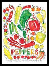 Peppers Sign/Plaque Metal Door Sign Home Kitchen Food Cooking