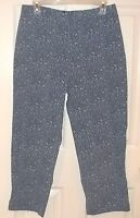 Womens STYLE & Co~Denim PAISLEY CAPRIS~sz 12~NEW~Dungarees Stretch Cropped Jeans