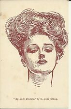 C. DANA GIBSON ARTIST - MY LADY DISDAIN GIBSON GIRL POSTCARD