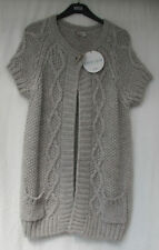 Wool Scoop Neck Plus Size Long Jumpers & Cardigans for Women