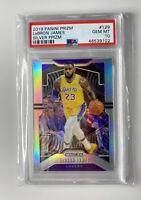 2019-20 Prizm Silver #129 LeBron James Lakers PSA 10 Gem Mint HOT 🔥🔥🏆🏆