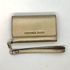 Michael Kors iPhone 5 Phone Case Wallet Wristlet Gold