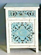 Indian Wooden Hand Carved Bedside Cabinet/ Nightstand /Side table