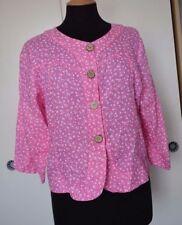 Linen Cropped Plus Size Button Coats & Jackets for Women