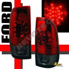 97-03 Ford F150 97-07 F250 F350 Super Duty Pickup Red Smoke LED Tail Lights