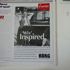 21x30cm magazine cutting 1994 KORG / PAUL WIX WICKENS