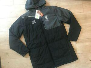 NEW Mens LONG Black LIVERPOOL FC STADIUM JACKET (L) *BNWT*