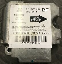 Calculateur AIRBAG OPEL ASTRA G 09229302
