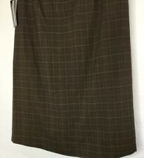 Requirements Skirt Size 10 A Line Plaid Front Pleat NWT