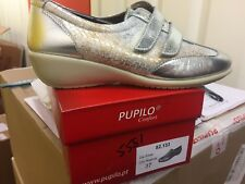 Ladies Silver Leather Shoes Size 4