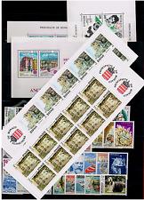 TIMBRES MONACO ANNÉE 1990 COMPLÈTE avec BLOC FEUILLET et Carnets NEUF**