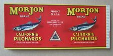 Wholesale Lot of 50 Old Vintage 1940/'s Morjon California PILCHARDS Can LABELS