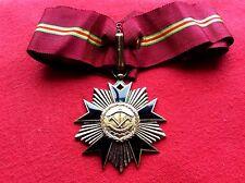 ORDRE NATIONAL DE LA REPUBLIQUE DU DAHOMEY.EN ARGENT MASSIF VERMEIL