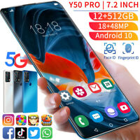 7.2 inch Smartphone 12GB+512GB Android 10 10-Core Face ID Unlock Mobile Phone