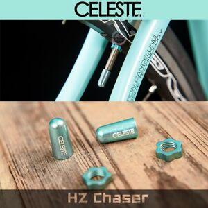 CELESTE Presta Valve Cap Dust Cover Bike Bicycle  Aluminium Alloy Caps BIANCHI