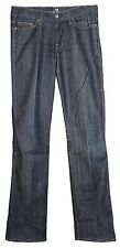 SEVEN 7 FOR ALL MANKIND Dark Blue Rinse Denim Bootcut Jeans 27 AS IS