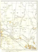 Stadt. ASKWITH Moor, Burley in Wharfedale, Denton, Ben rhydding, greenholme 1935 Karte
