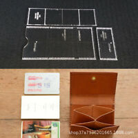 DIY Leather Craft Clear Acrylic Mould Pattern Stencil Card Storage Bag Template