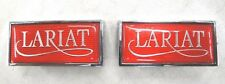 80 81 82 83 84 85 86 FORD TRUCK F100 F250  CAB SIDE  LARIAT EMBLEMS NEW