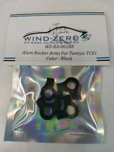 Wind-Zero Aluminum Rocker Arms for Tamiya TC-01 Formula E Gen 2 4pcs Black
