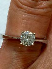 DIAMOND RING 18 KT WHITE GOLD F COLOR