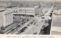 Independence Missouri~Downtown Lexington Street~5&10c Store~1940s Cars~B&W PC
