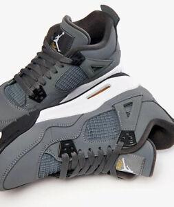 NIKE Jordan 4 Flight Retro GS Grey 6 Y Youth Eu 38.5 Sneakers Boys Leather Baske
