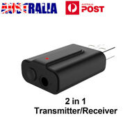 USB Blue tooth 5.0 Transmitter Receiver Stereo Audio Adapter AUX 3.5mm TV CAR PC