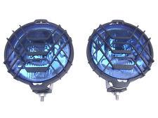 2x Scheinwerfer Rund Fernscheinwerfer ø183 12V 24V Blau Chrom Universal Halogen