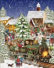 White Mountain Puzzles Christmas Train 1,000 Piece Jigsaw Puzzle