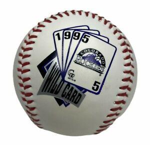 Vintage 1995 Colorado Rockies 1995 National League Wildcard Champions Baseball