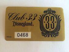 Vintage Disney Club 33 Parking Pass Sticker Disneyland New Unused HTF