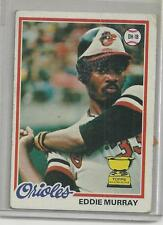 Baseball EDDIE MURRAY ROOKIE card   Topps 1978  #36  EXMT