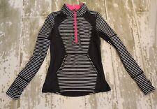 IVIVVA by Lululemon Black White GO & GLOW Long Sleeve 1/4 zip Jacket Thumbholes