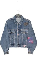 GUESS GEORGE MARCIANO 90'S VINTAGE CROPPED JEANS DENIM JACKET,SIZE:MEDIUM
