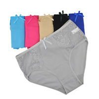 3,6,12 Pack Ladies Underwear Women Cotton Panties Sexy Lace High Waist Knickers