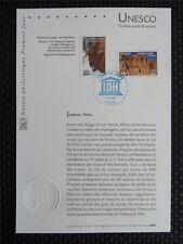 FRANCE UNESCO 2005 BISON WISENT JORDANIEN PETRA ERSTTAGSBLATT SAMMELBLATT z935