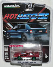 GREENLIGHT HOT HATCHES SERIES 1 1988 FORD MUSTANG GT GREEN MACHINE W+