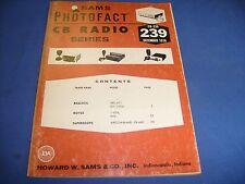 Sams Photofact Cb #239 Superscope Royce Realistic Cb repair book 1978 / b3