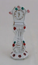 """Ceramic Grandfather Doll House Clock, Made in Japan, 5"""" tall"""